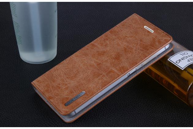 """Премиальный элитный чехол-книжка из качественной импортной кожи с мульти-подставкой и визитницей для huawei google nexus 6p """"ретро"""" коричневый"""
