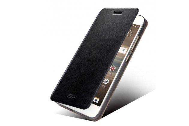 Чехол-книжка из качественной водоотталкивающей импортной кожи на жёсткой металлической основе для  huawei google nexus 6p черный