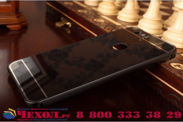 Металлическая задняя панель-крышка-накладка из тончайшего облегченного авиационного алюминия для huawei google nexus 6p черная