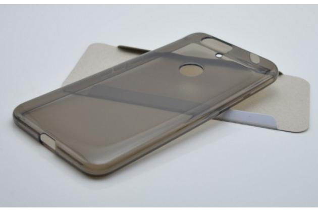 Ультра-тонкая полимерная из мягкого качественного силикона задняя панель-чехол-накладка для huawei google nexus 6p черная