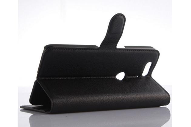 Чехол-книжка из качественной импортной кожи с мульти-подставкой застёжкой и визитницей для хуавей гугл нексус 6п черный