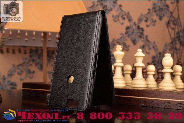 """Вертикальный откидной чехол-флип для huawei google nexus 6p черный из натуральной кожи """"prestige"""" италия"""