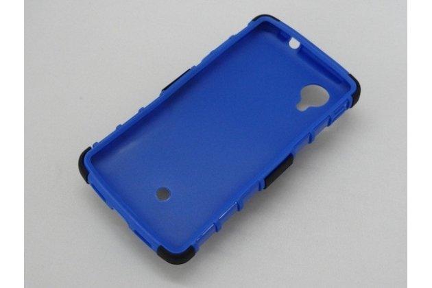 Противоударный усиленный ударопрочный чехол-бампер-пенал для lg google nexus 5 d821 синий