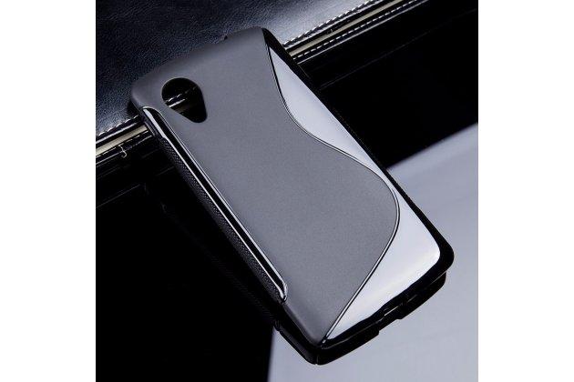 Ультра-тонкая полимерная из мягкого качественного силикона задняя панель-чехол-накладка для lg google nexus 5 d821 черная