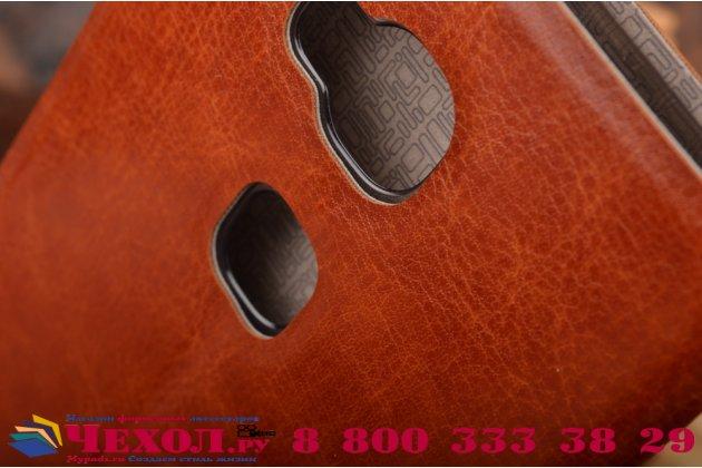 Чехол-книжка из качественной водоотталкивающей импортной кожи на жёсткой металлической основе для lg google nexus 5 d821 коричневый