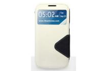 Чехол-книжка для lg google nexus 5 d821 белый кожаный с окошком для входящих вызовов
