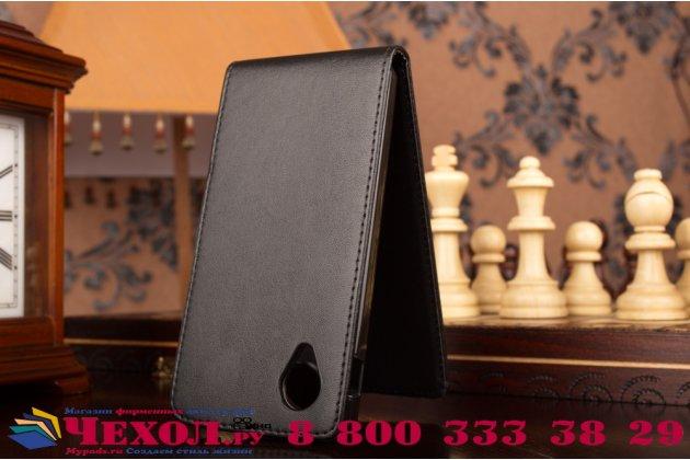 """Вертикальный откидной чехол-флип для lg google nexus 5 d821 черный из натуральной кожи """"prestige"""" италия"""