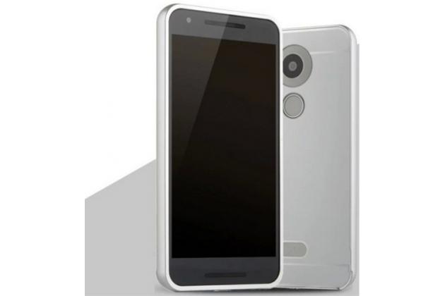 """Металлическая задняя панель-крышка-накладка из тончайшего облегченного авиационного алюминия для lg google nexus 5x 5.2"""" серебренная"""
