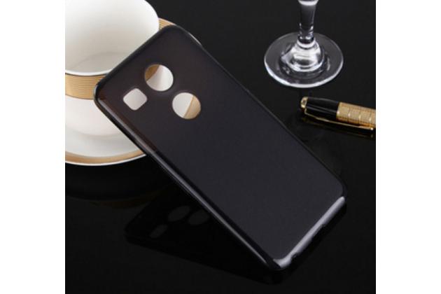 """Ультра-тонкая полимерная из мягкого качественного силикона задняя панель-чехол-накладка для  lg google nexus 5x 5.2"""" черная"""