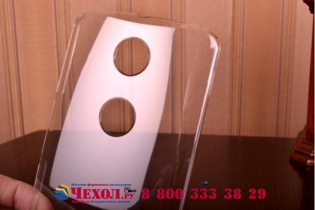 Задняя панель-крышка-накладка из тончайшего и прочного пластика для motorola nexus 6 прозрачная