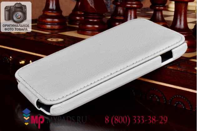 Вертикальный откидной чехол-флип для lg google nexus 4 e960 белый кожаный