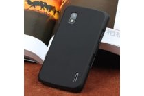 Ультра-тонкая полимерная из мягкого качественного силикона задняя панель-чехол-накладка для lg google nexus 4 e960 черная
