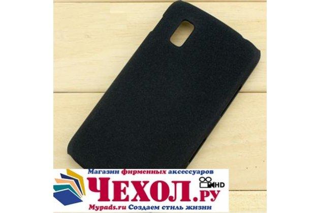 Задняя панель-крышка-накладка из тончайшего и прочного пластика для lg google nexus 4 e960 черная