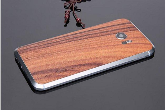 "Деревянная бамбуковая задняя наклейка для htc 10 / htc one m10 / lifestyle 10 5.2"""