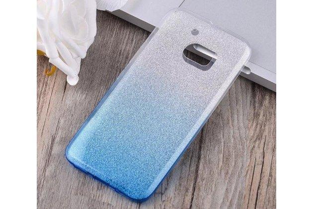 """Ультра-тонкая полимерная задняя панель-чехол-накладка из силикона для htc 10 / htc one m10 / lifestyle 10 5.2""""  прозрачная с эффектом дождя"""