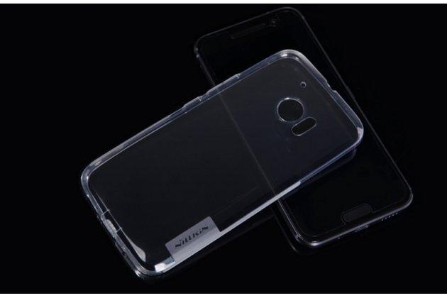 """Ультра-тонкая силиконовая задняя панель-чехол-накладка с защитой боковых кнопок для htc 10 / htc one m10 / lifestyle 10 5.2"""""""