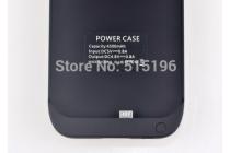 Чехол-бампер со встроенным усиленным аккумулятором большой повышенной расширенной ёмкости 4500mAh для HTC One M8/ M8 Dual Sim/M8s/(M8) EYE черный + гарантия