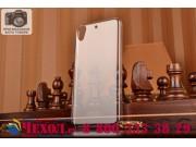 Фирменная ультра-тонкая полимерная из мягкого качественного пластика задняя панель-чехол-накладка для HTC Desi..
