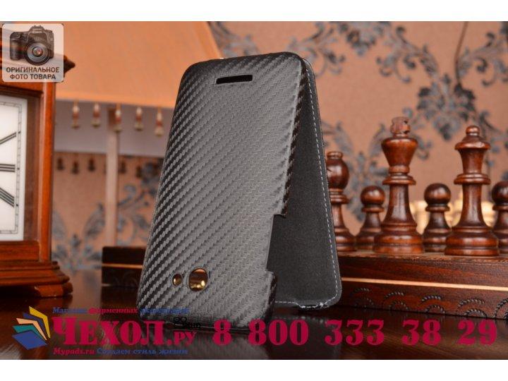 Вертикальный откидной чехол-флип для htc butterfly x920e черный кожаный..
