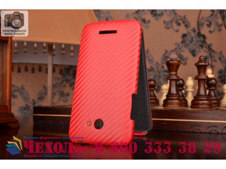 Вертикальный откидной чехол-флип для htc butterfly x920e красный кожаный..