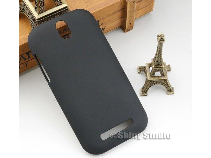 Задняя панель-крышка-накладка из тончайшего и прочного пластика для htc desire sv t326e черная..
