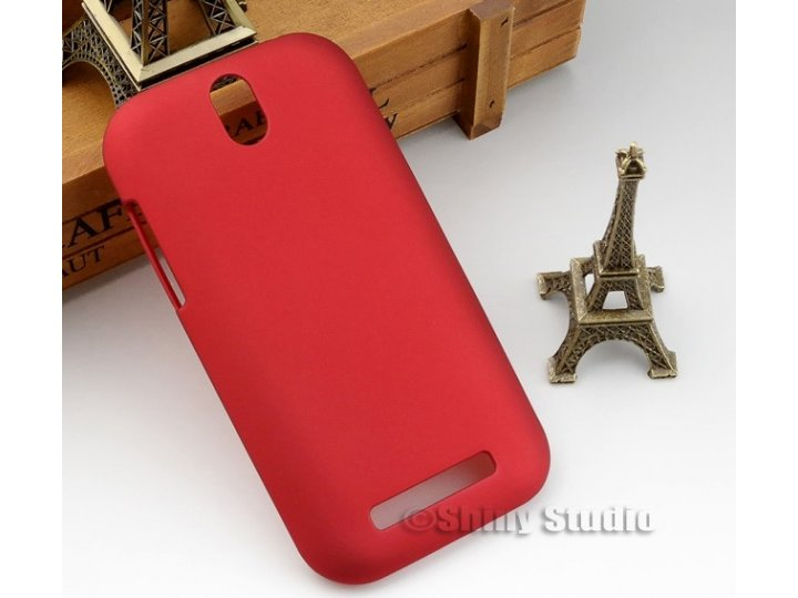 Задняя панель-крышка-накладка из тончайшего и прочного пластика для htc desire sv t326e красная..