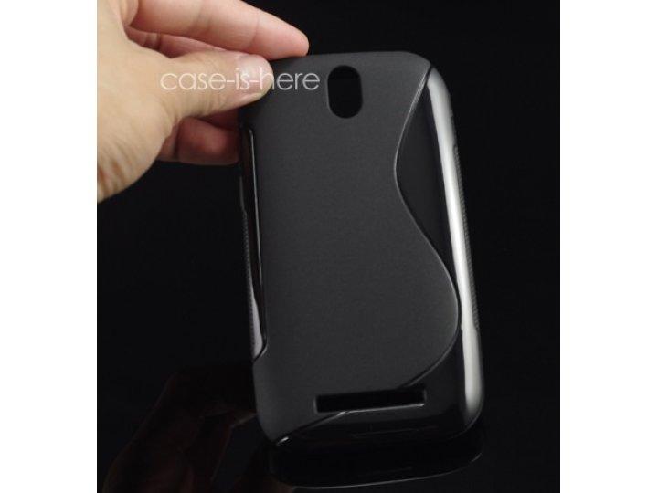 Ультра-тонкая полимерная из мягкого качественного силикона задняя панель-чехол-накладка для htc desire sv t326..
