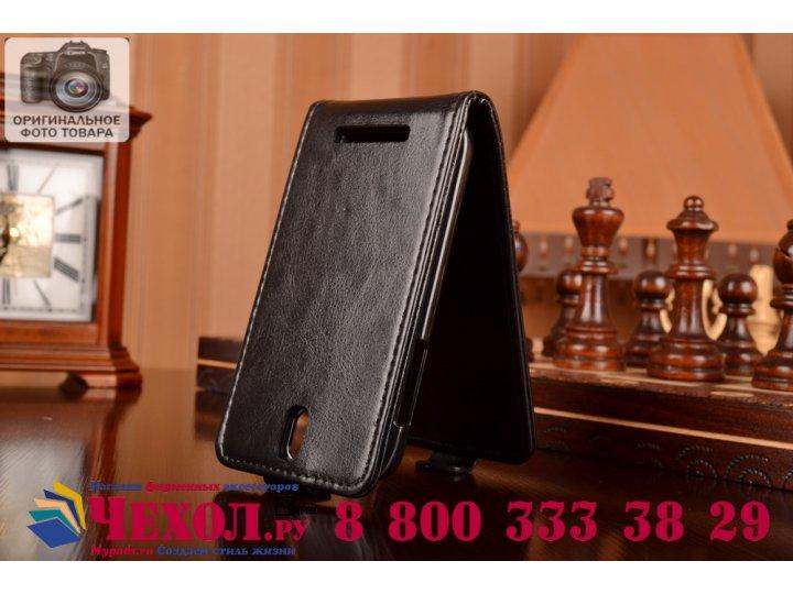 Вертикальный откидной чехол-флип на htc desire sv t326e черный кожаный..