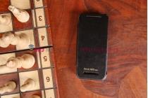Чехол-книжка со встроенной усиленной мощной батарей-аккумулятором большой повышенной расширенной ёмкости 2800mAh для HTC One Mini черный + гарантия