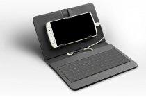 Фирменный чехол со встроенной клавиатурой для телефона Huawei Ascend Mate 7/7 Premium 6.0 дюймов черный кожаный + гарантия