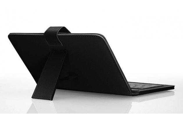Чехол со встроенной клавиатурой для телефона huawei ascend mate 7/7 premium 6.0 дюймов черный кожаный + гарантия