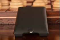 Чехол-бампер со встроенным усиленным аккумулятором большой повышенной расширенной ёмкости 3800mAh для Huawei Ascend P6/P6S черный + гарантия