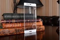 """3d защитное изогнутое стекло с закругленным изогнутым краем которое полностью закрывает экран / дисплей по краям с олеофобным покрытием для huawei p9 + plus (vie-al10 ) 5.5"""""""