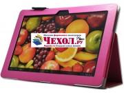 Чехол-обложка для Huawei Mediapad 10 FHD/10 Link розовый кожаный..