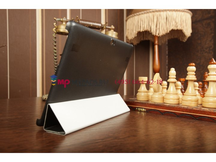 Тонкий легкий чехол-обложка для huawei mediapad 10 link черный пластиковый..