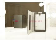 Фирменный оригинальный чехол-обложка для Huawei Mediapad 7 Youth черный кожаный..