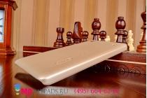 Задняя панель-крышка-накладка из тончайшего и прочного пластика для lenovo a936 золотая
