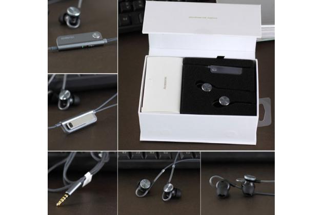 Фирменные оригинальные наушники-вкладыши huawei am180 с микрофоном и переключателем песен для всех моделей телефонов черного цвета