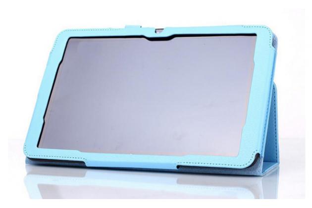 Чехол для lg g pad 2 10.1 (v940/ v935)  голубой кожаный