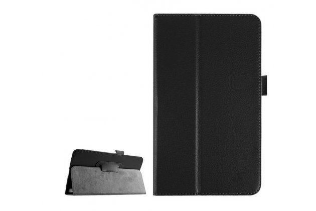 Чехол обложка с подставкой для lg g pad f 8.0 (v495) чёрный кожаный