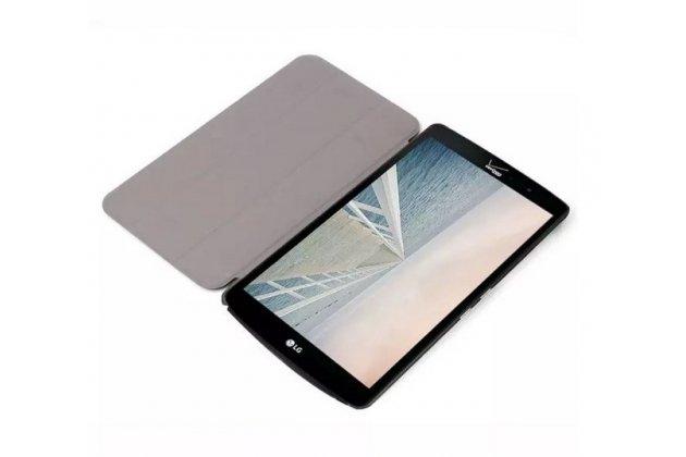 """Умный чехол-книжка самый тонкий в мире для lg g pad f 8.0 (v495) """"il sottile"""" черный кожаный"""