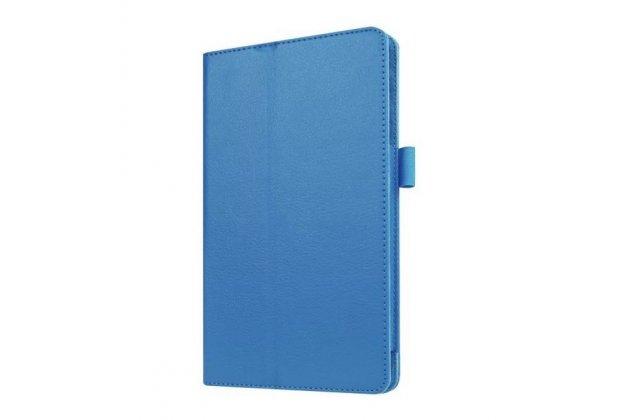 Чехол обложка с подставкой для lg g pad x 8.3 (vk815) голубой кожаный