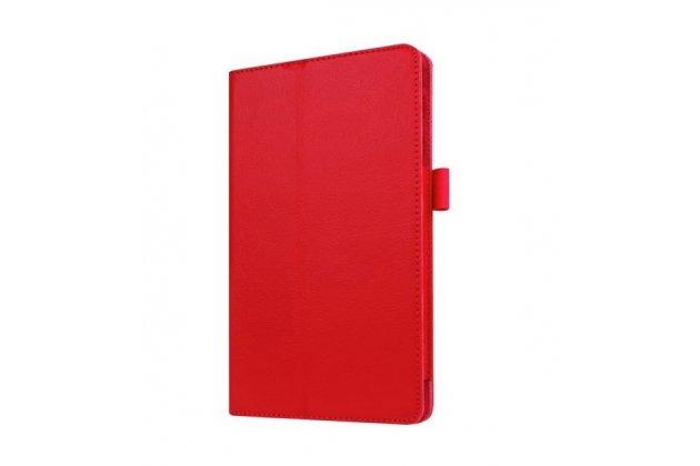 Чехол обложка с подставкой для lg g pad x 8.3 (vk815) красный кожаный