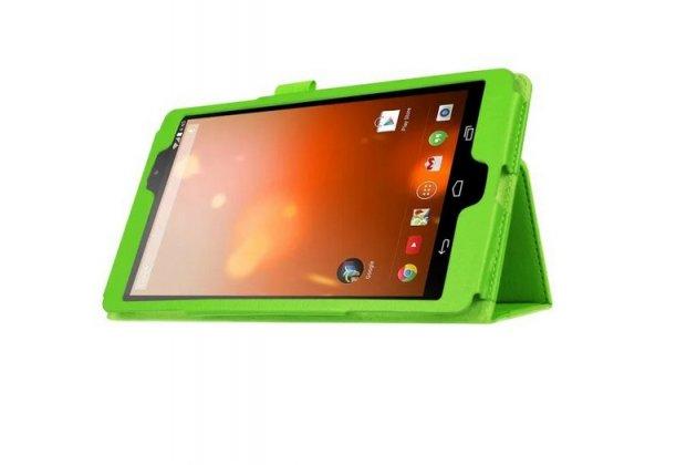 Чехол обложка с подставкой для lg g pad x 8.3 (vk815) зелёный кожаный