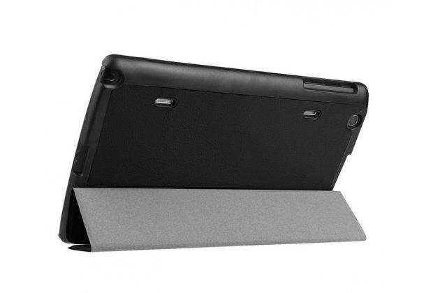"""Умный чехол-книжка самый тонкий в мире для lg g pad x 8.3 (vk815) """"il sottile"""" черный кожаный"""