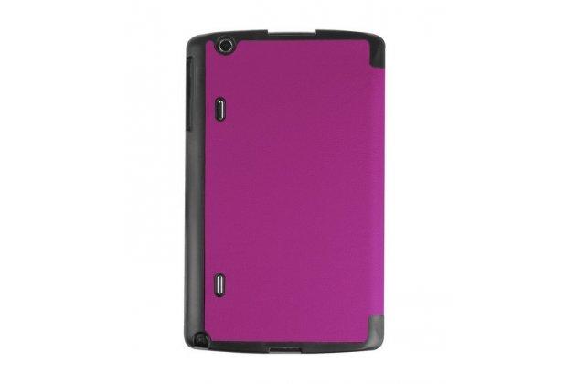 """Умный чехол-книжка самый тонкий в мире для lg g pad x 8.3 (vk815) """"il sottile"""" фиолетовый кожаный"""