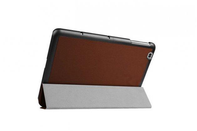 """Умный чехол-книжка самый тонкий в мире для lg g pad 2 10.1 (v940/ v935) """"il sottile"""" коричневый кожаный"""