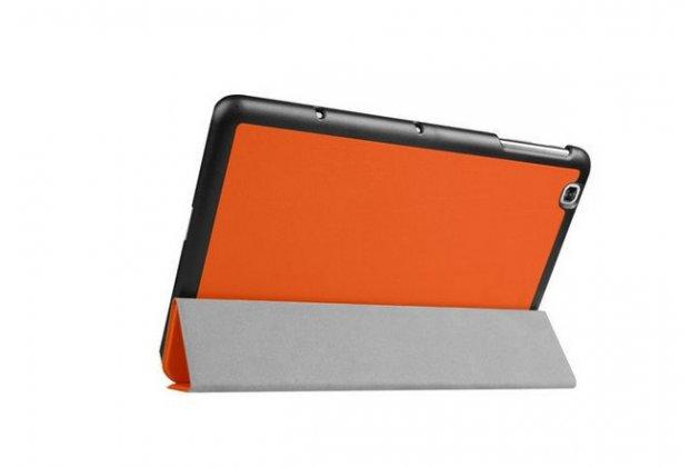 """Умный чехол-книжка самый тонкий в мире для lg g pad 2 10.1 (v940/ v935) """"il sottile"""" оранжевый кожаный"""