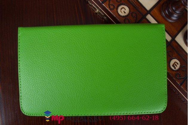 Чехол для lg g pad 7.0 v400 поворотный роторный оборотный зеленый кожаный