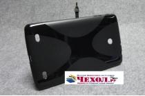 Ультра-тонкая полимерная из мягкого качественного силикона задняя панель-чехол-накладка для lg g pad 7.0 v400 (lgv400.aciswh.)  черная